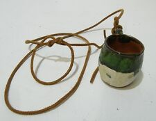 ☛ Zinn Krug mit Deckel 0,25 l. am Lederband für Gürtel & Ton Schnapsbecher ☚