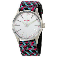 Nixon Sentry Silver Dial Mens Fabric Watch A377-2010-00