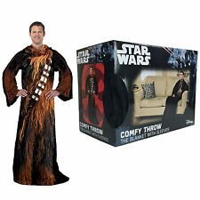 """New Star Wars Being Chewie Chewbacca Adult Comfy Throw with Sleeves 48""""x 71"""""""