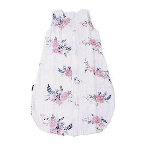 Bebe au Lait Muslin Bedtime Sleeper Bag, Baby Wearable Sack 6-12 mos New Garland