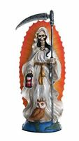 Santa Muerte Saint of Holy Death Standing Religious Statue 7.25 Inch White Tunic