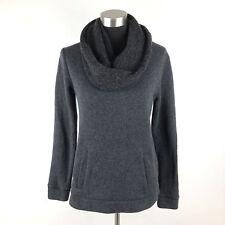 J Crew Grey Funnel Neck Sweater Kangaroo Pocket Womens Small