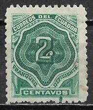 1896 ECUADOR Postage Due USED STAMP (Scott # J2) CV $6.50