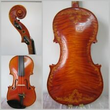 Violin Stradivarius Model Canada Flame Maple Master Hand Carve Pattern 7 #