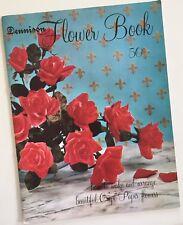 Vintage 1963 Dennison Crepe Paper Flower Book
