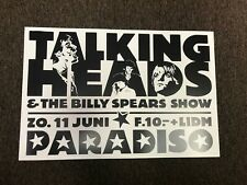 """The Talking Heads 1977 Paradiso Amsterdam Concert Cardstock Poster 12"""" x 18"""""""