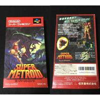 SUPER METROID Nintendo Super Famicom SNES Vintage Retro Video Game 1994