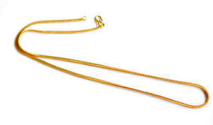 KAPA  22 inches  18K  Yellow Gold PLated mens  & women Necklace Chain Jewelry