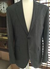 """English Laundry""A Stylish Gray Hairline Flat Front Suit 40L 34/33 Cuffs"