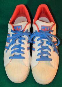 2011 Adidas Superstar MEN's Shell Toe Leather Tennis Shoes Sz 11 G23531 XLNT