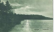 Vintage Postcard USA 1911 - Moonlight - Waushacum - Westfield, Mass.