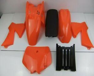New KTM SX50 Junior/Senior Orange Plastics Kit Mudguard Seat Sx 50 JR SR