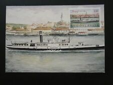 ship boat paddle steamer maximum card Yugoslavia 72082