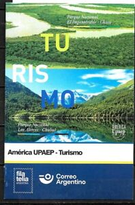 #10014 ARGENTINA 2021 UPAEP  NATIONAL PARKS NATURE MOUNTAINS RIVER POST BROCHURE
