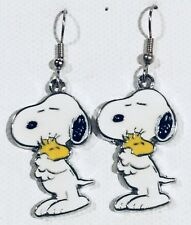 SNOOPY and WOODSTOCK Earrings Surgical Hook New Peanuts Gang Friends (B)