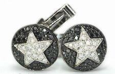925 Sterling Silver Natural Gem Stone Black Onyx With Cz Men's Cufflink Jewelery