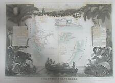 AFRIQUE SÉNÉGAMBIE ÎLE MALGACHE MADAGASCAR CARTE LEVASSEUR GRAVURE ATLAS 1852