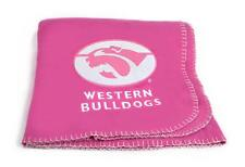 AFL Western Bulldogs Pink Polar Fleece Throw Official AFL Product Ladies Women