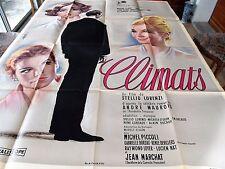 Affiche de cinéma climats 1961