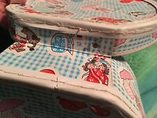 Holly Hobbie Round Carry Case Vintage Toy Carrier w/Strap