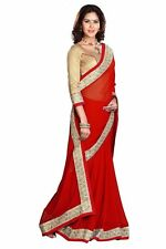 Exclusive Bordered Bollywood Partywear Saree Fabric Georgette sari Blouse Sari