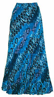 LADIES NEW LONG CRINKLE COTTON TIERED HIPPIE  HIPPY BOHO GYPSY MAXI SKIRTS