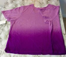 Liz&Me Purple Dipdye Umbre Knit Top Womans 4x Perfect Price Short Sleeve Sweater
