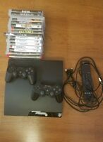 Sony PlayStation 3 (PS3) Slim 160GB bundle - 16 games, 2 controllers, remote