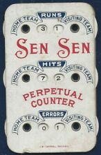 Early 1900's Sen Sen Advertising Baseball Celuloid Scorer