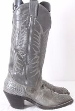 """Nocona 2417A Cowboy Western Pointed Toe Snakeskin 12"""" Tall Boots Women's US 4.5B"""