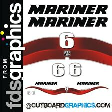 Mariner 6hp 4 stroke outboard decals/sticker kit