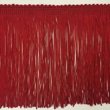 "6"" Red DOUBLE STRAND Chainette Fabric Fringe Lamp Costume Trim by the yard"