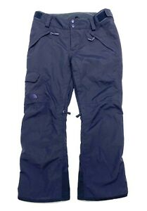 THE NORTH FACE Ski Snowboard Winter Pants Womens Size L Navy Blue HyVent