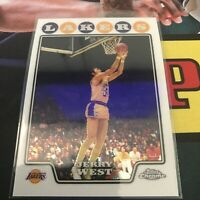 Topps Chrome Jerry West Base Card Lakers 2008 Legend HOF