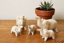 NEW Hand-carved Wooden Elephants Family Large Little Decorative Craft Gift