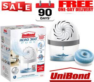 Unibond AERO 360 Room, Home Moisture Absorber Dehumidifier Device +1 Refill Tab