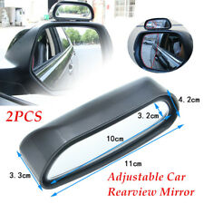 2 Pieces Car Rearview Mirror Blind Spot Side Wide Angle View HD Glass Universal