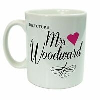 Personalised The Future Mrs.. Engagement Coffee Tea Mug Gift 11oz Ceramic