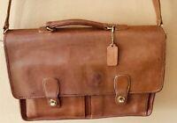 Vintage COACH BRITISH TAN LEATHER BRIEFCASE MESSENGER & Coach Leather Portfolio,