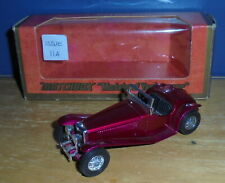 Matchbox Yesteryear Y3 Riley MPH Ruby Red Black Seats Issue 5