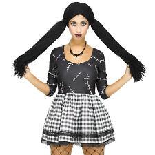 Ladies Broken Rag Doll Costume Scary Womens Adults Halloween Fancy Dress