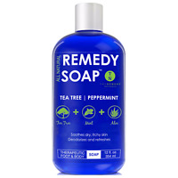 Remedy Antifungal Soap Athlete's Foot 100% Natural with Tea Tree Oil Mint 12 oz