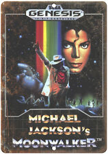 "Sega Genesis Michael Jackson Moonwalker Game 10"" x 7"" Retro Look Metal Sign"