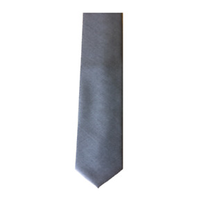 Soprano Wool Tie in Plain Grey