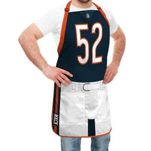 Too Cool! New Chicago Bears Khalil Mack NFL Player Jersey Apron BBQ Tailgate sa