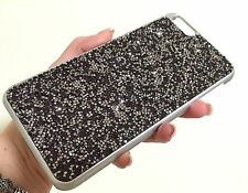 Purple Silver Rock Made with Swarovski Crystals Bling Glitter Case iPhone 7 Plus