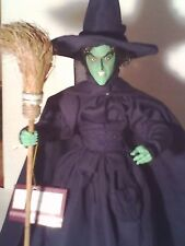 The WIZARD OF OZ WICKED WITCH ELPHABA COLLECTOR DOLL MARGARET HAMILTON RARE VHTF