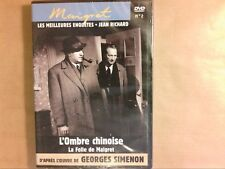 DVD MAIGRET N° 2 / JEAN RICHARD / L'OMBRE CHINOISE + LA FOLLE DE MAIGRET / NEUF