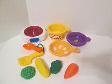 Vintage Little Tikes Interactive Burner Hotplate Pot Pan Sound Pretend Play Food