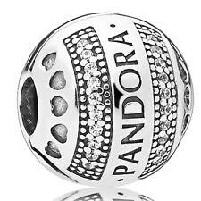 PANDORA Charm Clip Element 797433 CZ Logo Bead